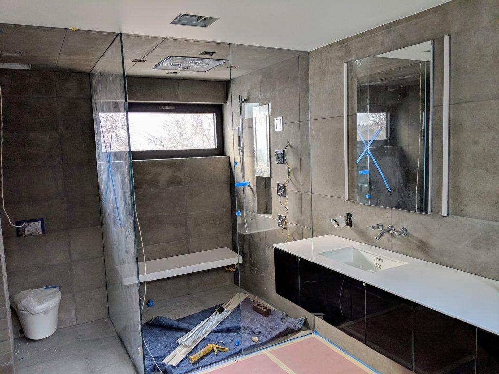 Silestone Quartz Shower Benches Brekhus Tile Stone Sloan S Vista A Modern Home